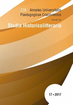 Studia Historicolitteraria 17 (2017)